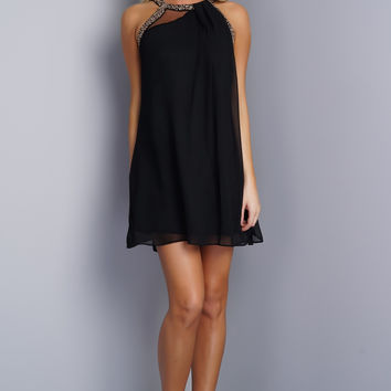 Chloe Dress - Black/Silver