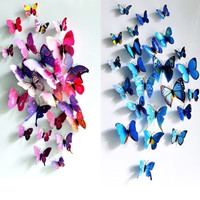 Sticker Art Design Decal Wall Stickers Home Decor Room Decorations 3D Butterfly #lcmq = 1946182468