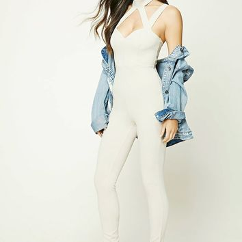 Strappy Choker Neck Jumpsuit