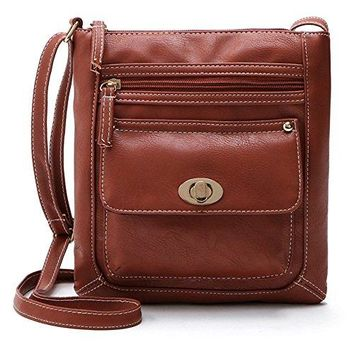 Duketea Multi Pockets Small Crossbody Purse for Women Crossover Shoulder Bag for Teen Girls