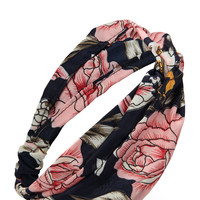 Vibrant Rose Headwrap