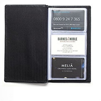 Luxury Leather Credit Card & Business Card Wallet, 96 Card Capacity