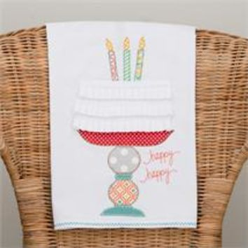 """Happy Happy"" Tea Towel"