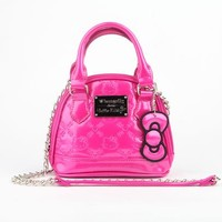 Hello Kitty Embossed Micro Crossbody: Pink