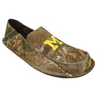 Michigan Wolverines Cazulle Realtree Camouflage Canvas Loafers - Men