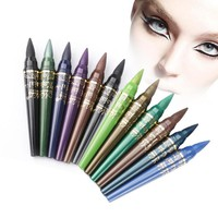 Eye Shadow Brightness Colors Waterproof Bead Pen Long lasting Eyeshadow Pencil Set 6 Color eyes Makeup Tool A6