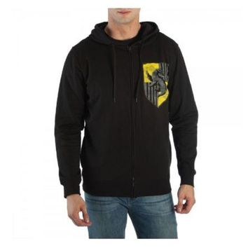 Harry Potter House Crest Hufflepuff Adult Zip Up Hoodie
