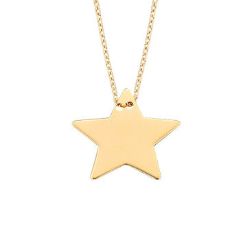 Star 14k Solid Gold Necklace Best Price