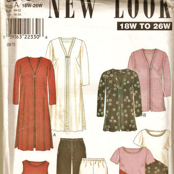 New Look 6818 Plus Size Career Wardrobe Pattern Sz18W-26W Uncut FF Office & Professional Sewing Patterns Supplies