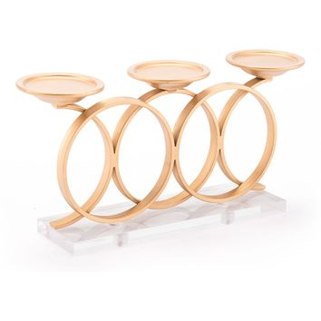 Gold Infinity Candle Holder