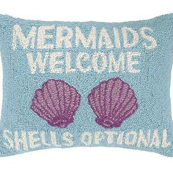 Mermaids Shells Pillow 14X18""