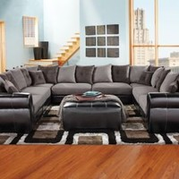 Beckett Gray Black 8 Pc Sectional