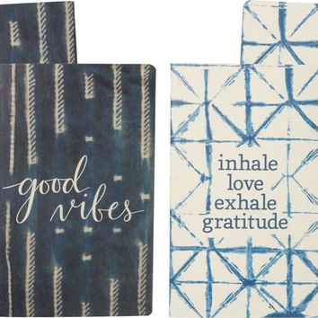 Good Vibes and Inhale Love Exhale Gratitude Notebook Set