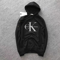""""""" Calvin Klein """"Fashion Hooded Fashion Top Sweater Pullover Hoodie"""