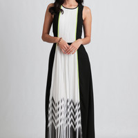Adelyn Colorblocked Maxi Dress