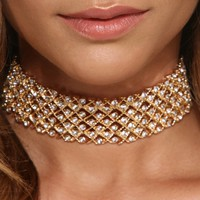 Gold Rhine And Dine Choker