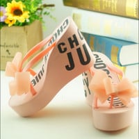 Fashion letter bowknot sandals