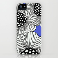 DOODLE BLUE iPhone & iPod Case by Isabella Salamone
