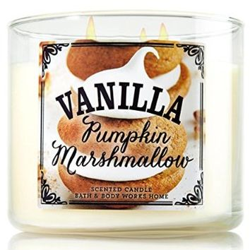 Bath & Body Works Vanilla Pumpkin Marshmallow candle 14.5 oz 3 wick 2014 Limited Edition Pumpkin Cafe