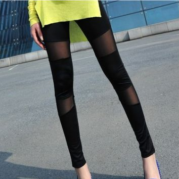 Black & Sheer Leggings