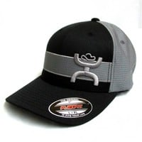 HOOey Cap Streak Black and Grey Cowboy Cap