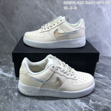DCCK2 N829 Nike Wmns Air Force 1 SE PRM Jelly Liquid Air Force Crystal Hook Leisure Sports Board Shoes
