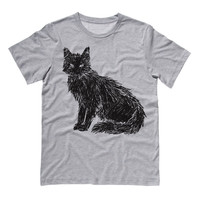 Scribbled  Black Cat T-Shirt