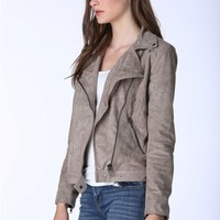 Timeless Suede Moto Jacket
