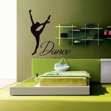 ik2220 Wall Decal Sticker dance dancer girl living room bedroom children's room