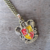 Gryffindor House Crest Hogwarts school Badge by ChanceryLane