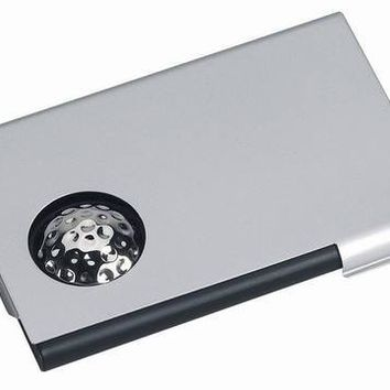 Free Engraving Personalized Golf Business Silver Card Holder
