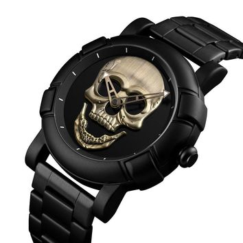 Halloween Skull Skulls Skeleton prop SKMEI Fashion  Watch Men Waterproof Mens Watches Top Brand Luxury Stainless Steel Sports Quartz Man Watch Relogio Masculino AT_57_4