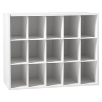 15-Pair Shoe Rack - White - Room Essentials™