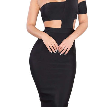 Choker Cut Out Bandage Dress