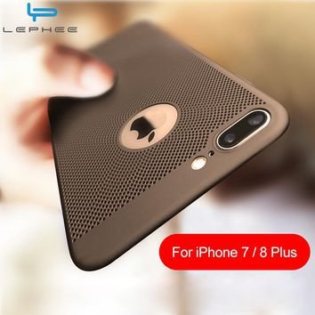 Back Heat Dissipation Hard PC Cover for iPhone 6 6S Plus 5s SE 7 10 5 Cases