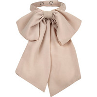 River Island Womens Beige neck bow
