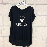 Relax Graphic Top- FINAL SALE