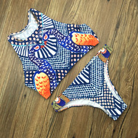 New Arrival Beach Summer Swimsuit Hot Sexy Swimwear Print Vest Bikini [10603735503]