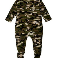 Onesuit-Baby Camo Sleeper, Green