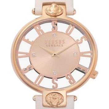 VERSUS by Versace Kristenhof Leather Strap Watch, 34mm | Nordstrom