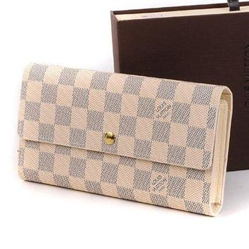 Louis Vuitton LV Fashion Women Shopping Leather Buckle Wallet Purse I