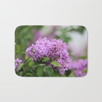 Lilac Bouquets Bath Mat by Theresa Campbell D'August Art