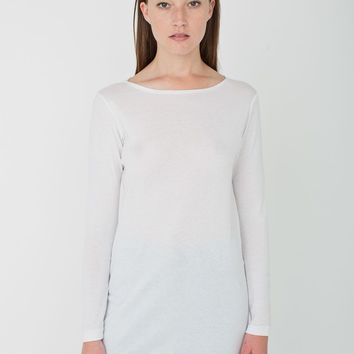 rsas327 - Sheer Rib Boatneck Tunic