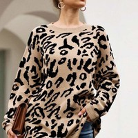 Arjana Oversized Leopard Sweater