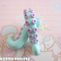 Pastel Octopus Tentacle Earrings