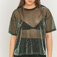 Sparkle & Fade Animal Print Liquid T-shirt - Urban Outfitters