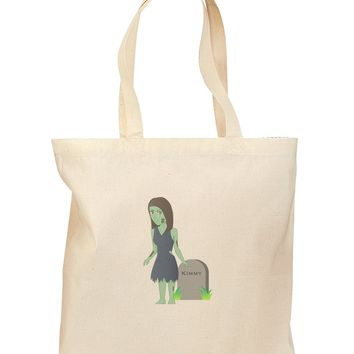 Kimmy the Zombie Girl Grocery Tote Bag