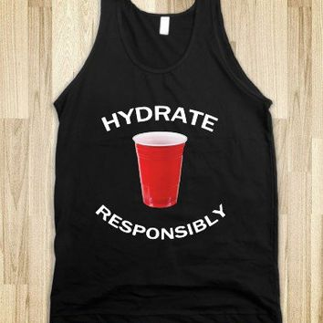 Hydrate Responsibly-Unisex Black Tank