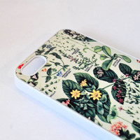 Floral iPhone 5 Case - Floral 4iPhone Case - iPhone 5/5s Case - iPhone 4/4s Case - Vintage Botanical Print iPhone Case