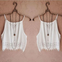 Summer Beach Holiday Sexy Spagehetti Strap Sleeveless Erotic Casual Party Playsuit Clubwear Bodycon Boho Top Shirt T-Shirt Top Women Tank Vest Shirt T-shirt _ 8843